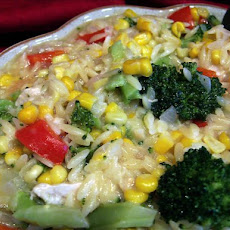 Chicken With Orzo and Veggies