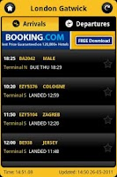 Screenshot of Flight Times UK