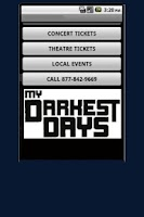 Screenshot of My Darkest Days Tickets