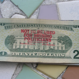 Never seen this on money before, It was a 20 eddie had today by Eddie N Kathy Powell - News & Events Politics