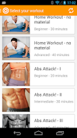 Screenshot of Fitness - Home & Gym Workouts