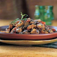 Lentils with Wine-Glazed Winter Vegetables
