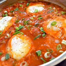 Salsa Poached Eggs & Grits
