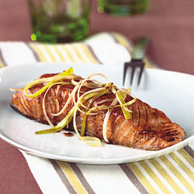 Pan-Seared Salmon with Honey-Balsamic Sauce