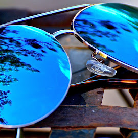 Sky in the Eye by Traci Cahill - Artistic Objects Clothing & Accessories ( #blueskies, #reflection, #clothingandaccessories, #outdoors, #accessories, #artistic,  )
