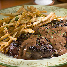 Steak au Poivre with Herbed Frites
