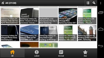 Screenshot of Samsung Galaxy S4 News