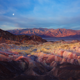Breadth & Scope by David Hellard - Landscapes Mountains & Hills ( amargosa, death valley, hills, point, zabriskie, mountain, range, valleys, california, valley, morning, peaks )