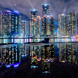 HDR Busan by Keith Homan - City,  Street & Park  Vistas ( reflection, hdr, nikon d800, busan, pusan, marine city, south korea,  )