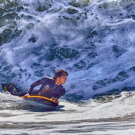 Surfer At The Wedge by Jose Matutina - Sports & Fitness Surfing ( surfer, california, sport, newport beach, the wedge,  )