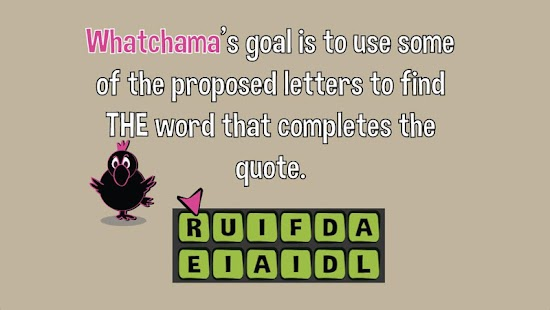 Quotes Game: Whatchama - screenshot