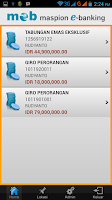 Screenshot of Maspion Electronic Banking