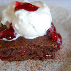 Raspberry Filled Brownies ala Mode