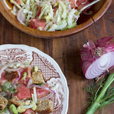 Winter Panzanella Salad with Grapefruit, Fennel and Avocado