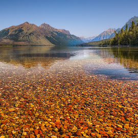 Lake McDonald by Thomas Crews - Landscapes Waterscapes ( glacier, montana, landscape )