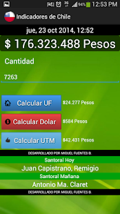 Indicadores de Chile - screenshot