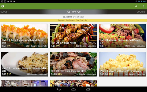 groupon-daily-deals-coupons for android screenshot