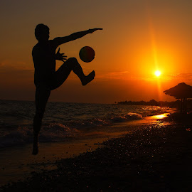 by Maja  Marjanovic - Sports & Fitness Other Sports ( ball, sunset, sports, beach, sun,  )