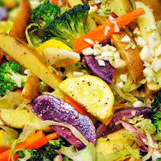 Pasta Smothered with Roasted Vegetables