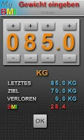 Screenshot of My BMI by DRP (deutsch)