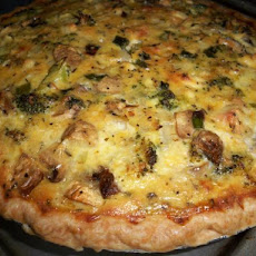 Broccoli Mushroom Feta cheese Quiche