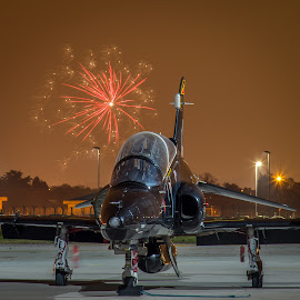 Hawk T2  by Nigel Conniford - Transportation Airplanes ( aviation, jet trainer, aeroplane, aircraft, hawk t2, raf, nightshoot )