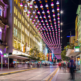 Melbourne Xmas II by Dimitrije Antonijevic - City,  Street & Park  Street Scenes ( melbourne, christmas, victoria, bourke_street, street photography )