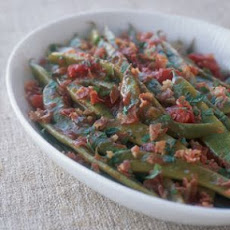 Romano Beans with Tomatoes and Pancetta