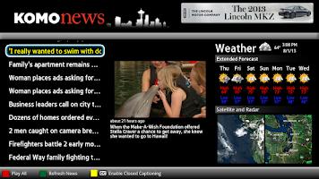 Screenshot of KOMO News Seattle