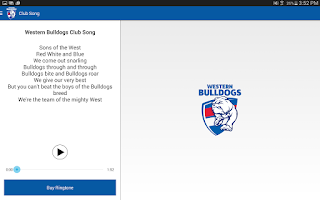 Screenshot of Western Bulldogs Official App