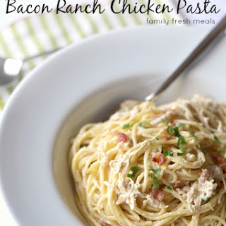 Slow Cooker Bacon Ranch Chicken and Pasta