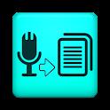 Discurso al texto a voz icon