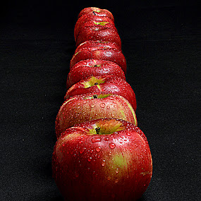 Apples in the line. by Andrew Piekut - Food & Drink Fruits & Vegetables (  )