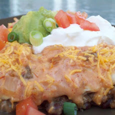 Cheesy Beef and Bean Enchiladas
