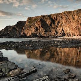 hartland reflection by Alan Ranger - Landscapes Waterscapes ( algenon, info@alanranger.com, devon, www.alanranger.com, seascape, hartland quay, alan ranger )