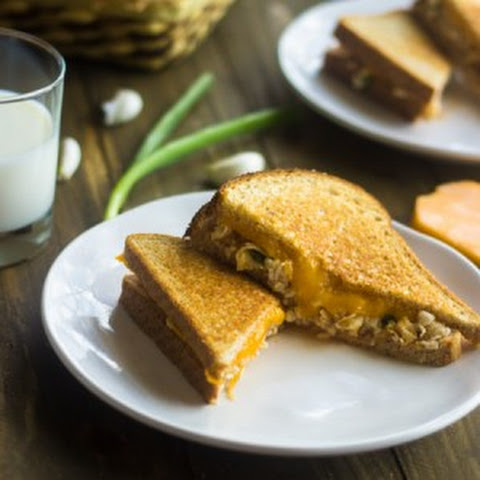 Healthy Egg Salad Grilled Cheese Sandwich {Whole Wheat}