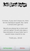 Screenshot of Lost Droid Finder · Lost Phone