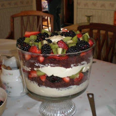 Fruity Chocolate Cake Trifle