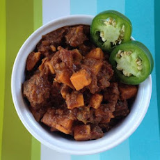 Buffalo and Sweet Potato Chili