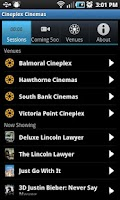 Screenshot of Cineplex Cinemas