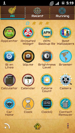 Concentric GoLauncher Theme