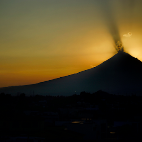 popocatepetl at sunset by Cristobal Garciaferro Rubio - Landscapes Sunsets & Sunrises