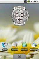 Screenshot of Rolex Clock Widget 2x2