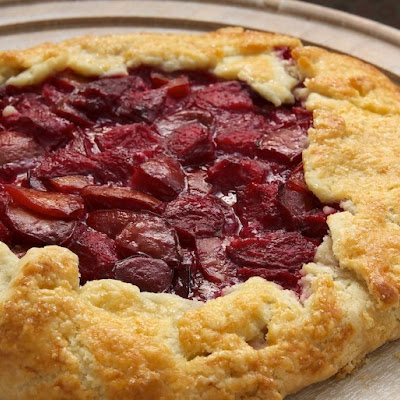 Plum and Almond Crostata