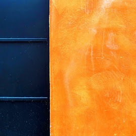 Bleu Orange by Bruno Gueroult - Abstract Patterns ( abstract, pentax kx, bleu orange, couleurs,  )