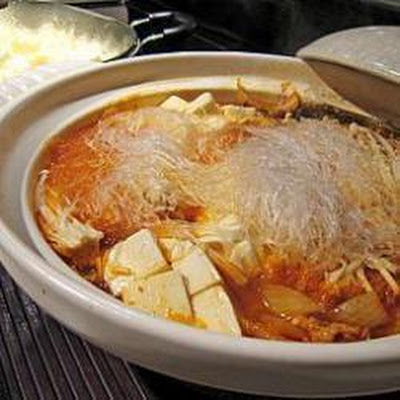 Pork, Tofu And Kimchi Hot Pot