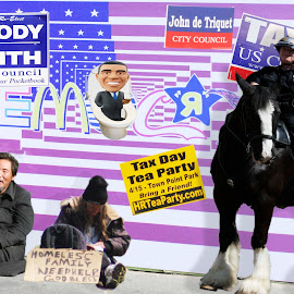 Political by Alicen Collins - Digital Art People ( election, political, homeless, collage, pictures of pictures,  )