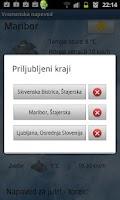Screenshot of Vremenska napoved
