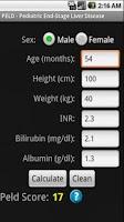Screenshot of MELD / PELD Score