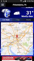 Screenshot of 6abc StormTracker